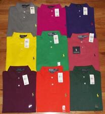 NWT Mens Polo Ralph Lauren Custom Fit Polo Shirt Pony Logo $69 Choice 9 Colors