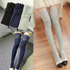 Thigh Stockings High Socks Pantyhose Tight Women Lace Cotton Over Knee