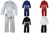 Blitz Student Kids Polycotton Karate Suit Gi Free White Belt - Boys Girls