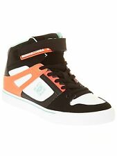 DC Black-White-Pink Spartan High Ev Kids Hi Top Shoe