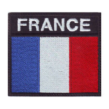 FRANCE BADGE FLAG EMBROIDERED  PATCH
