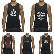 Sexy Black Men Sleeveless T Shirt Tank Top Sport Muscle Bodybuilding Gym Clothes