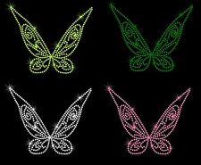 """6.5"""" Tinkerbell wings iron on rhinestone transfer bling patch your color choice"""