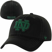 '47 Brand Notre Dame Fighting Irish  Black NCAA Helm Flex Hat