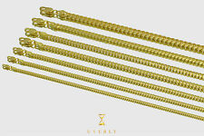 "1mm-5mm 14k Solid Thick Miami Cuban Link Yellow Gold Chain Necklace 16""- 32"""