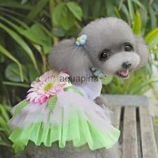 Pet Dog Puppy Tutu Dress Sunflower Lace Princess Skirt Clothes Apparel