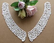 Vintage style 100% cotton off-white guipure lace collars 1 or 5 pairs