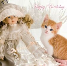 1 x Quality Birthday Greetings Card - Cat & Kittens  Designs from Red Frog Cards