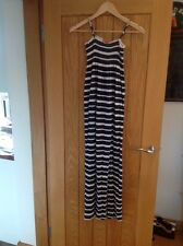 Girls navy and white striped maxi dress age 11-12