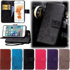 Retro Leather Skin Wallet Cover Case For Apple iPhone 4 5 5s/ 6 6s / 6Plus Phone