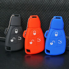 Silicone Fob Skin Key Cover Holder For Mercedes Benz B C E ML S CLK CL 3B 3BT