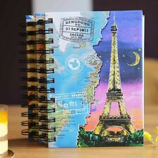 A6 Personal Colorful Spiral Coil Hard Cover Notebook Diary Journal Note Book Pad