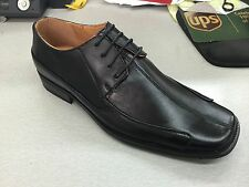 Men's black dress/formal shoes man-made leather SIZE 8-14 by Milano Moda 5757