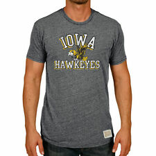 Original Retro Brand Iowa Hawkeyes Heather Black Vintage Tri-Blend T-Shirt