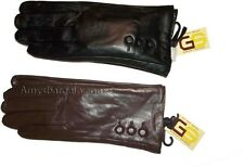 New Woman's Leather Dress Gloves Winter Gloves Soft Lined Guantes de piel BNWT