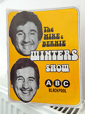 MIKE & BERNIE WINTERS BLACKPOOL SHOW PROGRAMME - 1970s