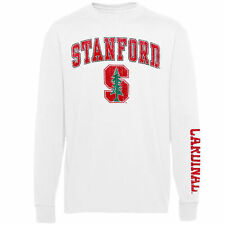 Stanford Cardinal Youth White Distressed Arch & Logo Long Sleeve T-Shirt