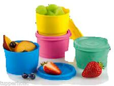 Tupperware Snack Cups - Set of 4 - 2 colour options - BRAND NEW