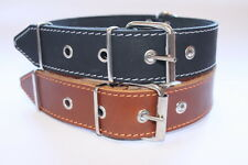 "Genuine Leather Dog Collar 1 3/5""  wide  20 1/2 ""- 24 4/5 "" neck size Dog XXL"