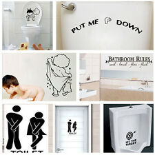 Quality Bathroom Toilet Decoration Seat Art Wall Stickers Decal Home Decor JB