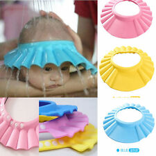 Baby Kids Cute Shampoo Bath Bathing Shower Cap Hat Adjustable Wash Hair Shield