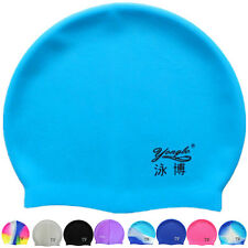 Swimming Pool Cap Silicone Swim Hat One Size Fits Most Waterproof Shower 2016 AU