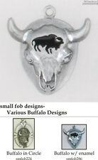 Buffalo (Bison) fobs, various designs & watch chain options