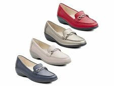Padders ELLEN Ladies Leather Extra Wide Comfortable Moccasin Loafers In 7 Colour
