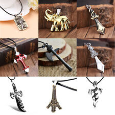 Jewellery Gift Unisex's Men Silver Stainless Steel Cross Pendant Necklace Chain