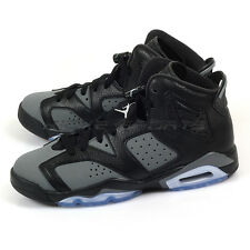 Nike Air Jordan 6 Retro BG Youth Basketball Black/White-Cool Grey 384665-010