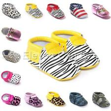 Baby Infant Boys Girls Soft Sole Prewalker Crib Sneakers Trainers Shoes 3-12M