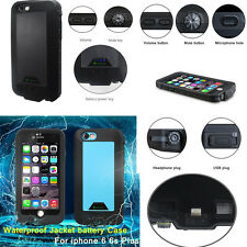 Waterproof Rechargeable Battery Case Portable Charger Cover For iPhone 6 6s Plus