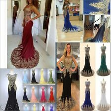 Long Sexy mermaid Evening Formal Party Ball Gown Prom Bridesmaid Dress Popular 1