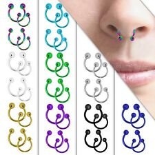 Horseshoe Bar Piercing Nose Ring Hoop Septum Tragus Eyebrow Lip Stainless Steel