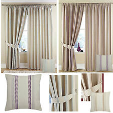 Darwin lined pencil pleat curtains CLEARANCE ex catalogue - ALL STOCK MUST GO!