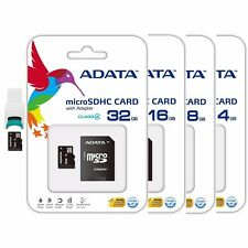Adata 4GB 8GB 16GB 32GB MicroSD HC Class4 Flash Memory Card w Adaptor USB Reader