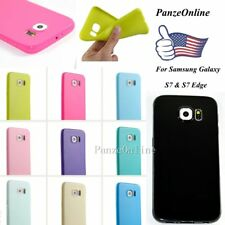 For Samsung Galaxy S7/S7 Edge ShockProof Soft Ultra Slim Silicone Gel Case Cover