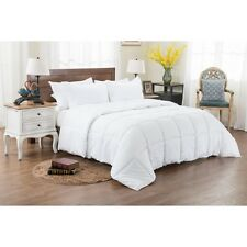 3PC REVERSIBLE SOLID EMBOSS STRIPED COMFORTER SET- OVERSIZED OVERFILLED WHITE