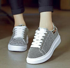 New Women Fashion Sneakers Casual Comfort Flats Canvas Sequins Shoes