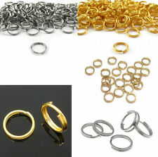 100Pcs Gold Jump Connectors Rings Split Open Metal NEW Silver Double 7/8/10mm
