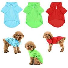 Pet Puppy Summer Polo Shirt Small Dog Cat Pet Clothes Costume Apparel T-Shirt