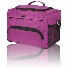 HAIRDRESSING BEAUTICIAN MOBILE BAG HAIR TOOL CASE/CARRY STRAP PINK/PURPLE