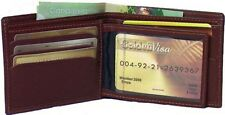 Two Genuine Leather Cowhide Men's Wallet with Center Panel Black, Brown #4690
