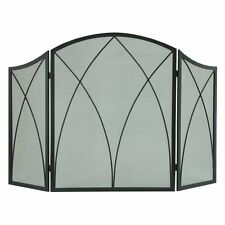 Pleasant Hearth 959 Arched Fireplace Screen - Black