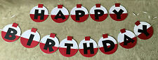 Fishing Bobber Happy Birthday banner. Can be Personalized with name and/or age