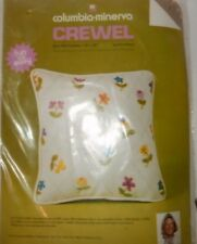 Columbia-Minerva Quilted Floral 10 x 10 Crewel Floral Stitchery Needlepoint