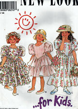 Girl's Vintage Party Dress Pattern - New Look 6210 (Size 3 - 8) Uncut