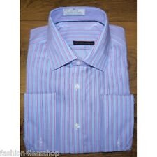 EX M&S MEN'S LUXURY PURE COTTON  DOUBLE FRENCH CUFF REGULAR FIT SHIRT RRP £45