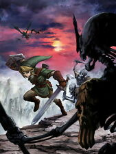 The Legend of Zelda Link Stalfos Princess Art Giant Wall Print POSTER
