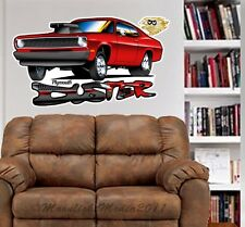 Plymouth Duster Cartoon Car WALL GRAPHIC  DECAL MAN CAVE ROOM MURAL  PRINT 9196